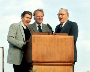 Cliff Barrows Billy Graham and Bev Shea