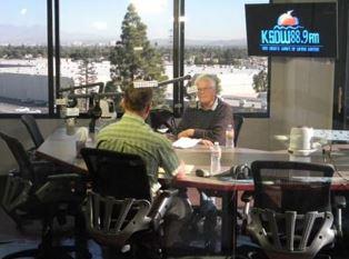 Dan Wooding interviewing Don Otis at KWVE smaller