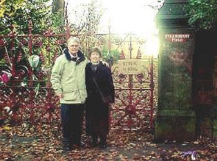 Dan and Norma outside Strawberry Field 2