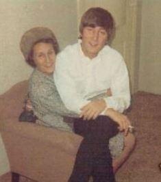 John Lennon with Aunt Mimi smaller