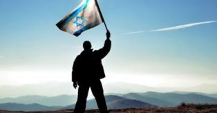 Messianic Jew waves Israel flag smaller