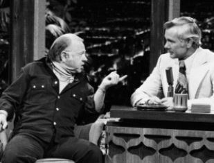 Mickey Rooney with Johnny Carson