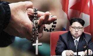 North Korean choose between the cross and Kim Jong un