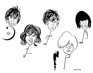 The Rolling Stones as drawn by Kerwin Maegraith smaller