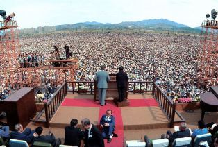 Billy Graham preaching in Seoul smaller