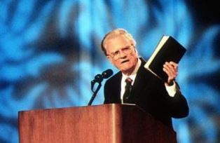 Billy Graham preaching smaller
