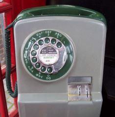 British payphone of that era