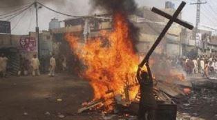 Burning the cross in Pakistan