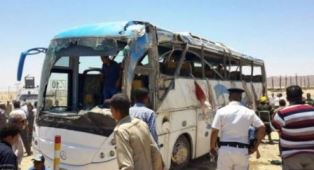 Bus attacked in Egypt smaller