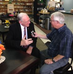 Chuck Missler being interviewed by Dan Wooding