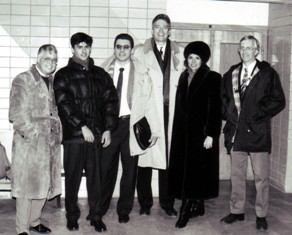 Dan with Billy Graham media team in Moscow in 1992