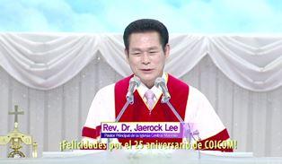 Dr. Jaerock Lee speaking to Coicom