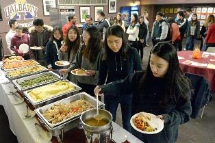 International students enjoy