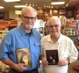 Jerry Jenkins with Dan Wooding and books