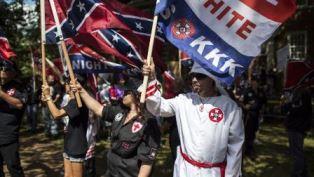 KKK and white supremacists in Charlottesville smaller
