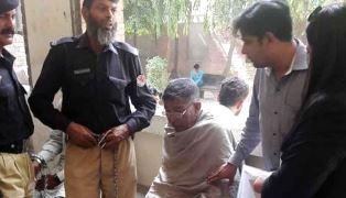 Pakistan man being arrested for blasphemy smaller