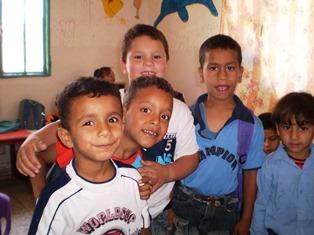 Palestinian children smaller