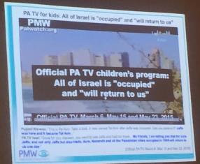 Screen shot of Palestinian broadcast smaller