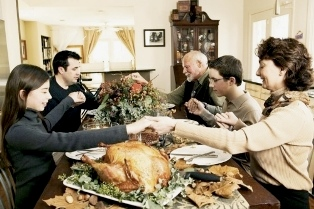 family share thanksgiving day with international students smaller