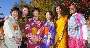 international students in national dress smaller