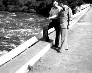 Dan Wooding with Ray Barnett in Uganda where Christians were fed to the crocodiles