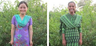 two missionaries who gave her a blanket smaller