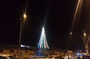 Christmas tree in Mosul smaller