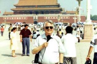 Dan Wooding reporting from Tiananmen Square in Beijing smaller use