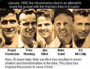 Five missionaries of Ecuador smaller