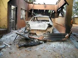 Fulani damage to car smaller
