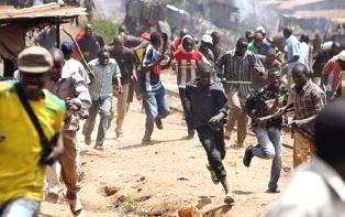 Fulani herdsmen attacking a Christian village smaller