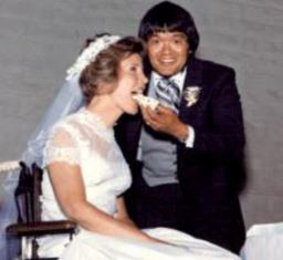 Joni and Ken on their wedding day smaller
