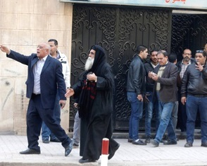 Mar Mina and Pope Kyrillos VI Coptic Orthodox church after the attack. 5.jpg386