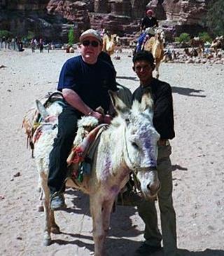 Michael on donkey