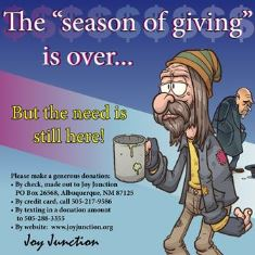 Season of Giving is over 1.5.17 smaller