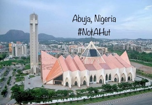 The National Christian Center in Nigerias capital city Abuja smaller