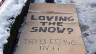 Try sleeping in the snow smaller