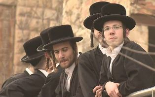 Ultra Orthodox Jews protest at the Western Wall smaller