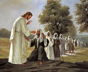 jesus heals many sick people smaller