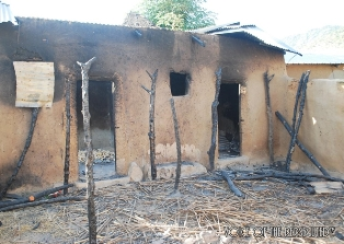 ngeria christian home that was destroyed smaller