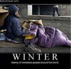 winter the enemy of the homeless smaller