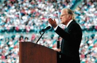 Billy Graham preaching a sermon smaller