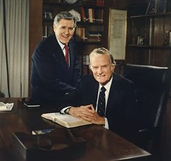 Cliff Barrows with Billy Graham smaller