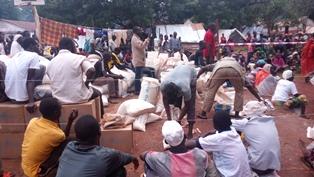 Muslim IDPs Bangassou Cathedral IDP camp smaller