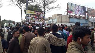 Muslim mob in Faisalabad