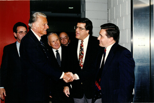 mi Billy Graham shaking hands with JerryJohnson 02 22 2018