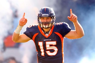 tebow career Broncos smaller