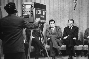 Billy Graham on HCJB in TV studio smaller