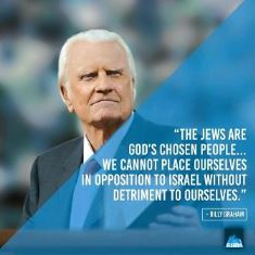 Billy Graham pro Israel quote smaller