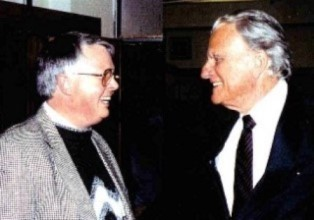 Dan Wooding with Billy Graham smaller